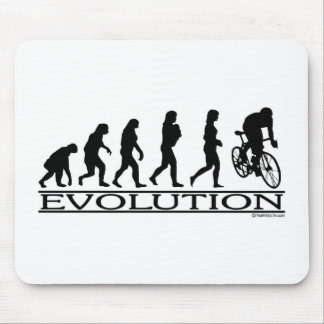 Evolution Female Cyclist Mouse Pad