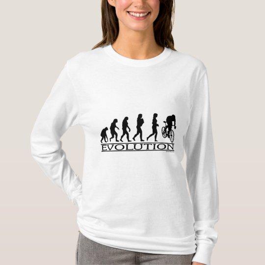 Evolution Female Cyclist T-Shirt