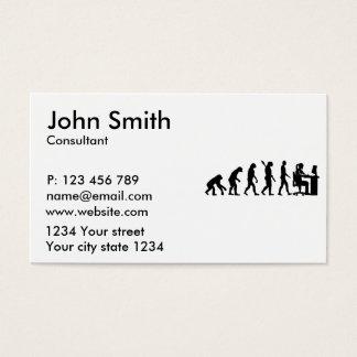 Evolution female graphic artist business card