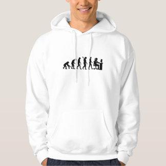 Evolution female graphic artist hoodie