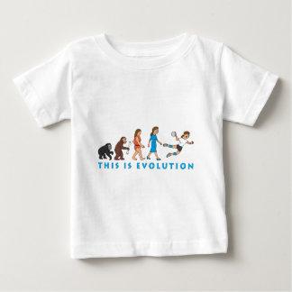 evolution female hand ball more player comic baby T-Shirt