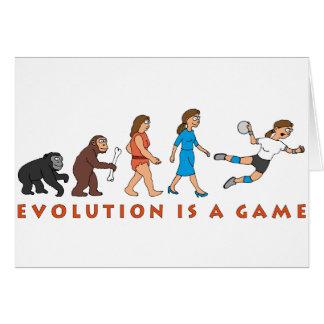 evolution female hand ball more player comic card