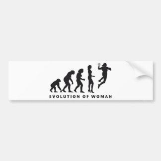 evolution female handball etiqueta de parachoque