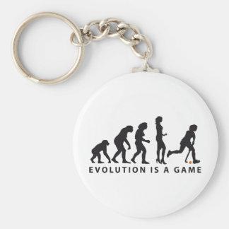 evolution female hockey basic round button keychain