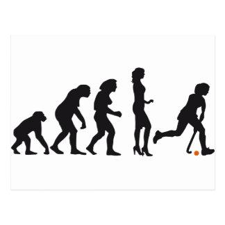 evolution female hockey postcard