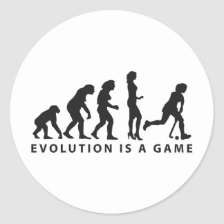 evolution female hockey classic round sticker