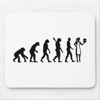 Evolution female pastry chef mouse pad