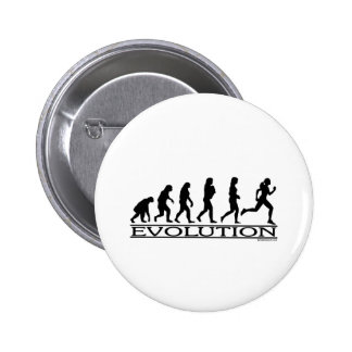 Evolution - Female Running Pinback Buttons