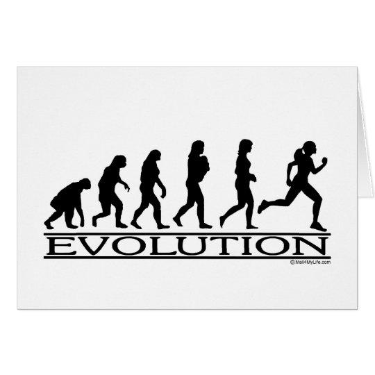 Evolution - Female Running Card