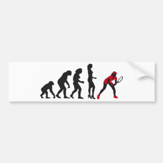evolution female tennis bumper sticker