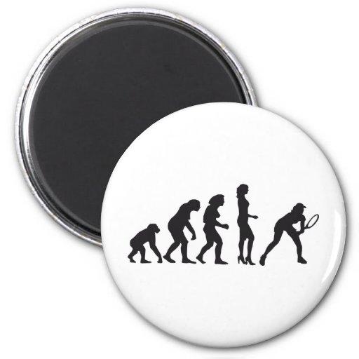 evolution female tennis magnet