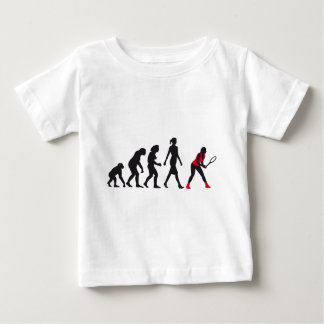 evolution female tennis more player baby T-Shirt