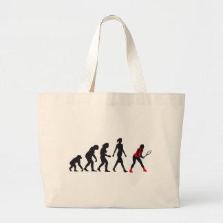 evolution female tennis more player large tote bag