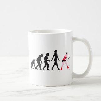 evolution female tennis more player classic white coffee mug