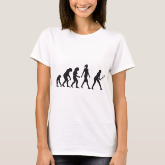 evolution female tennis more player T-Shirt