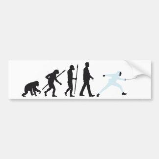 evolution fencing car bumper sticker