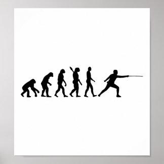 Evolution Fencing Print