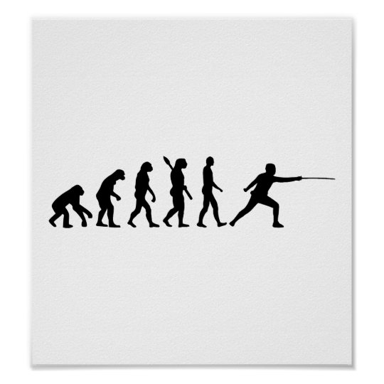 Evolution Fencing Poster