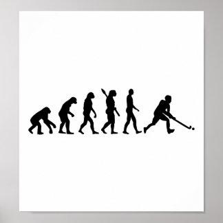 Evolution Field hockey Poster