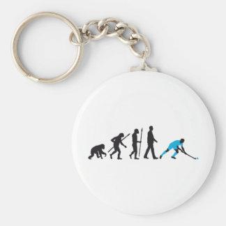 evolution fieldhockey more player basic round button keychain