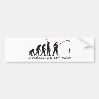 evolution fishing bumper sticker