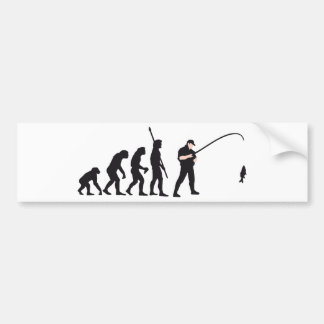 evolution fishing car bumper sticker