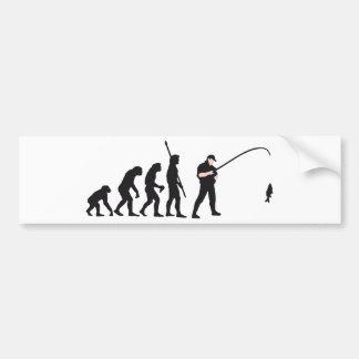 evolution fishing car bumper sticker