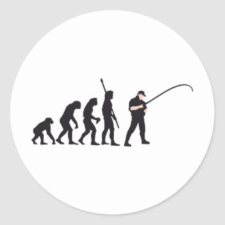 evolution fishing classic round sticker