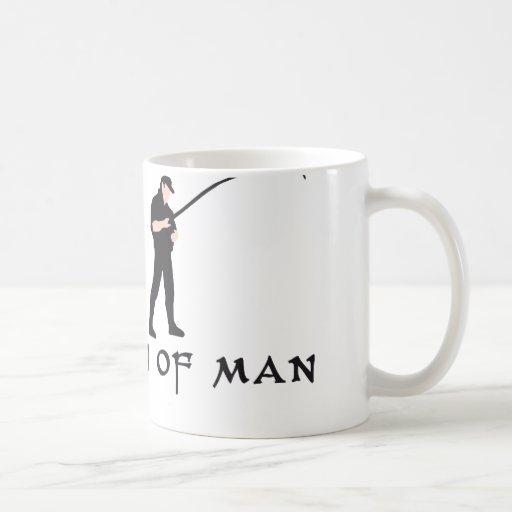 evolution fishing classic white coffee mug