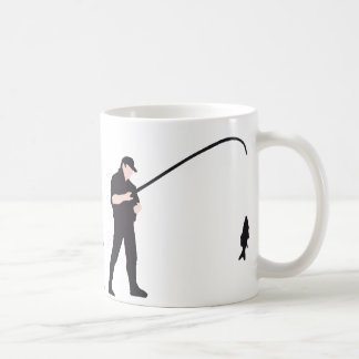 evolution fishing coffee mug