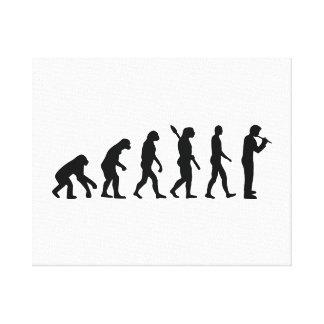 Evolution Flute Canvas Print