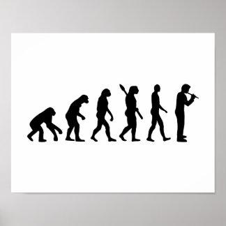 Evolution Flute Poster