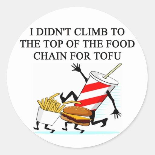 evolution food police joke round stickers