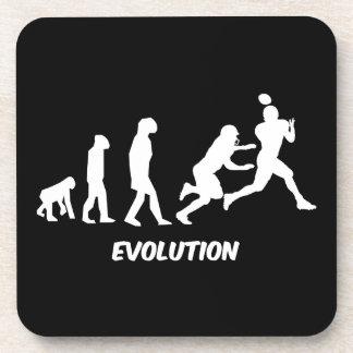 evolution football beverage coaster
