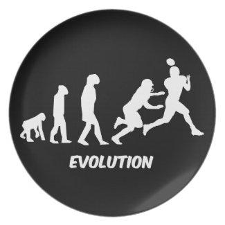 evolution football plate