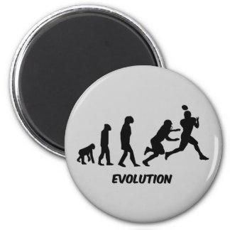 evolution football refrigerator magnet