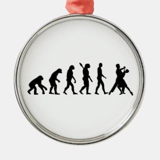 Evolution foxtrot dancing metal ornament