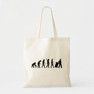 Evolution garbage man tote bag