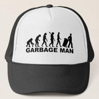 Evolution garbage man trucker hat