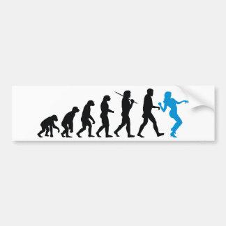 Evolution - Girl Dancing Bumper Sticker