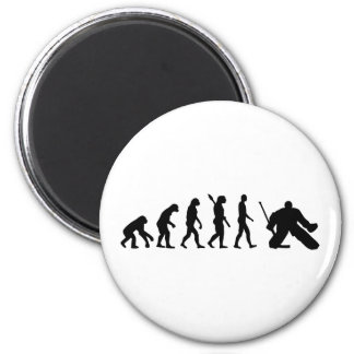 Evolution Goalie Hockey Refrigerator Magnet