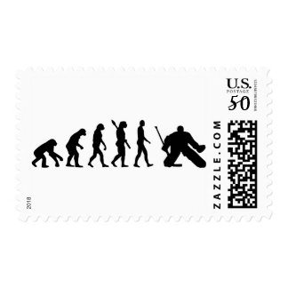 Evolution Goalie Hockey Postage