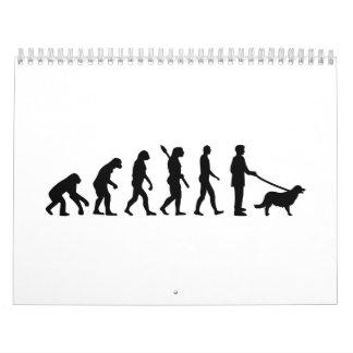 Evolution Golden Retriever Wall Calendar