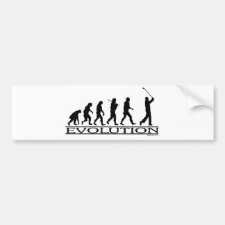 Evolution - Golf - Man Car Bumper Sticker