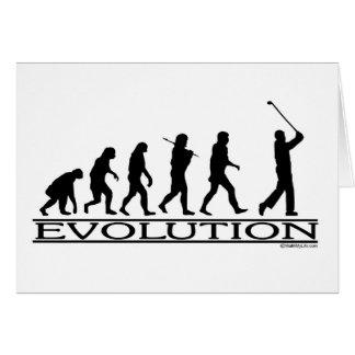 Evolution - Golf - Man Greeting Card