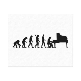 Evolution Grand Piano Canvas Print