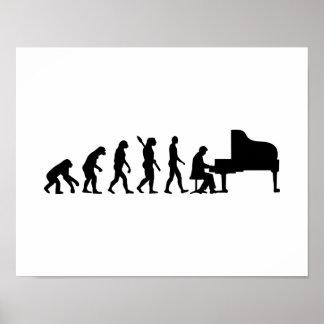 Evolution Grand Piano Poster