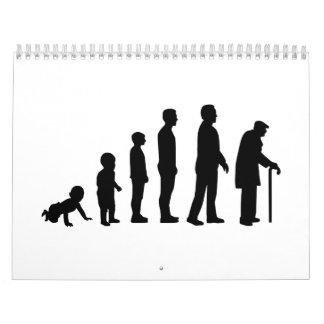 Evolution grandfather calendar