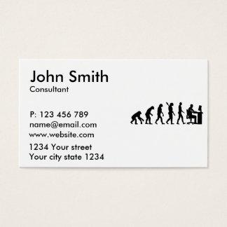Evolution graphic artist business card