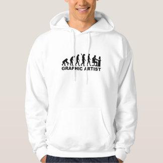 Evolution graphic artist hoodie